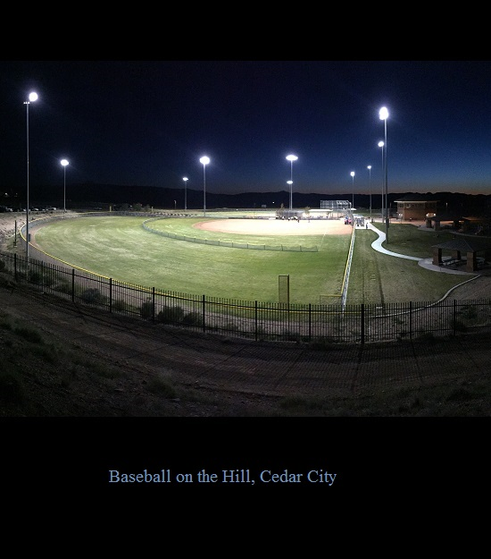 Baseball Fields by Lake on the Hill in Cedar City